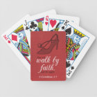 Walk By Faith 2 Corinthians 5:7 Bible Verse Quote Bicycle Playing Cards