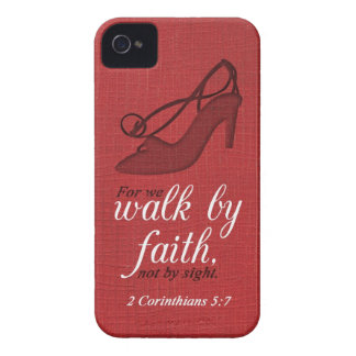 Walk By Faith 2 Corinthians 5:7 Bible Verse Quote iPhone 4 Cover