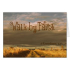 Walk by Faith Bible Verse Scripture Card