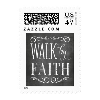 Walk By Faith Chalkboard Lettering Stamp