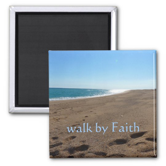 Walk By Faith Magnet Zazzle Com