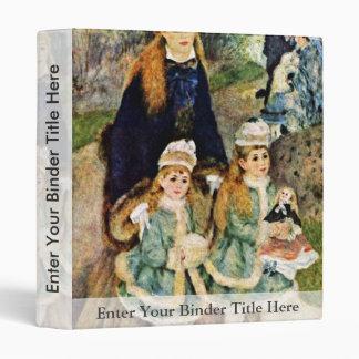 Walk By Pierre-Auguste Renoir (Best Quality) Vinyl Binder