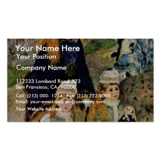 Walk By Pierre-Auguste Renoir (Best Quality) Business Cards