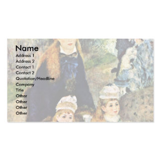 Walk By Pierre-Auguste Renoir (Best Quality) Business Card Template