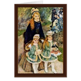 Walk By Pierre-Auguste Renoir (Best Quality) Greeting Card