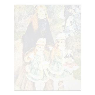 Walk By Pierre-Auguste Renoir (Best Quality) Letterhead Template