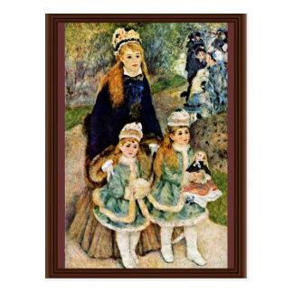 Walk By Pierre-Auguste Renoir (Best Quality) Post Cards