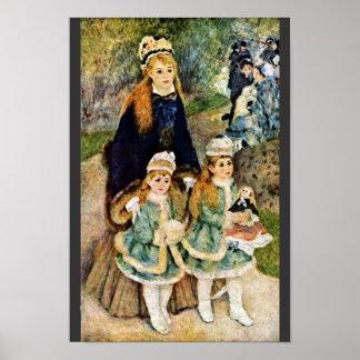 Walk By Pierre-Auguste Renoir (Best Quality) Print