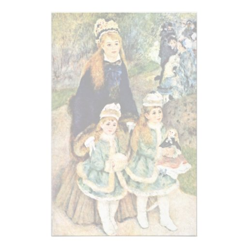 Walk By Pierre-Auguste Renoir (Best Quality) Customized Stationery