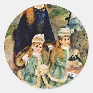 Walk By Pierre-Auguste Renoir (Best Quality) Sticker