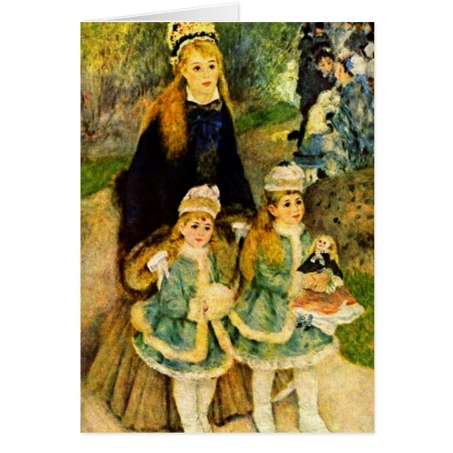 Walk by Pierre Renoir Card