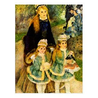 Walk by Pierre Renoir Postcard