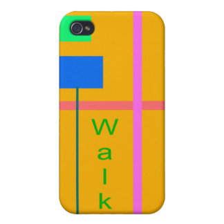 Walk Chrome Yellow Cover For iPhone 4