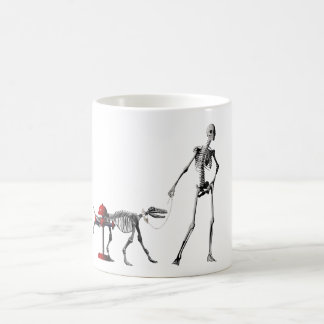 walk dog coffee mug