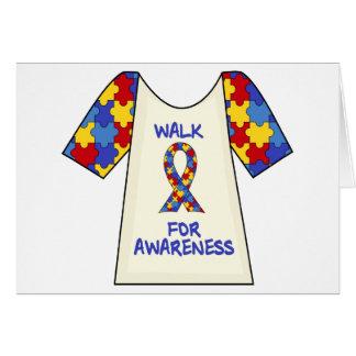 Walk For Autism Awareness Card