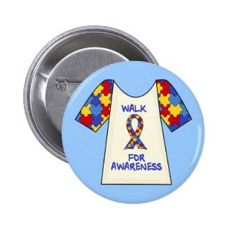 Walk For Autism Awareness Pinback Button