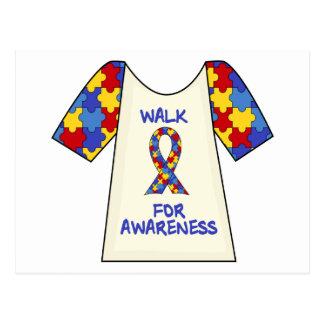 Walk For Autism Awareness Postcard