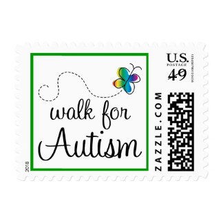 Walk For Autism Awareness Stamps