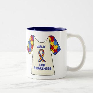 Walk For Autism Awareness Two-Tone Coffee Mug