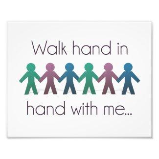 "Walk Hand in Hand 10"" x 8"" Photo Print"