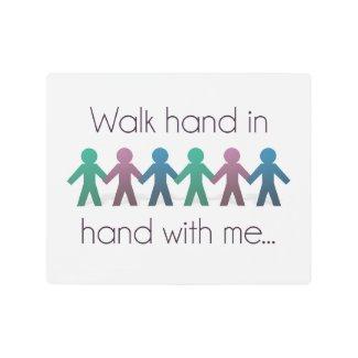 "Walk Hand in Hand 10"" x 8"" Wall Art - Metal"