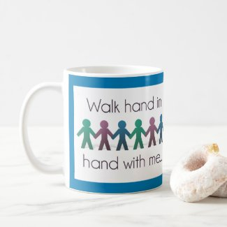 Walk Hand in Hand 11 oz Mug - Blue