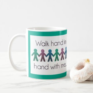 Walk Hand in Hand 11 oz Mug - Teal