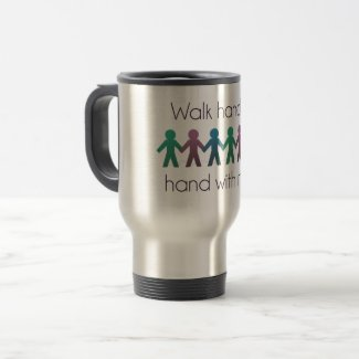 Walk Hand in Hand 15 oz Stainless Steel Travel Mug