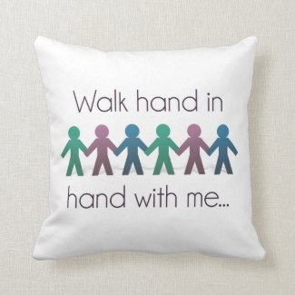 "Walk Hand in Hand 16"" x 16"" Throw Pillow"