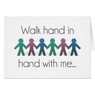 Walk Hand in Hand Greeting Card (Blank Inside)