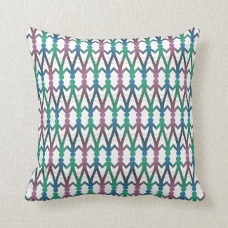 Walk Hand in Hand Pattern 16x16 Inch Pillow