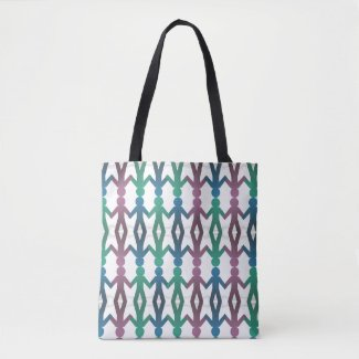 Walk Hand in Hand Pattern Tote Bag