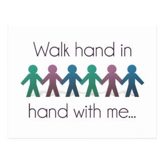 Walk Hand in Hand Postcard