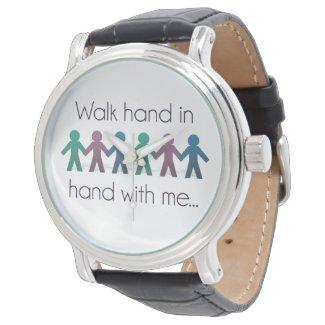 Walk Hand in Hand Vintage Leather Watch