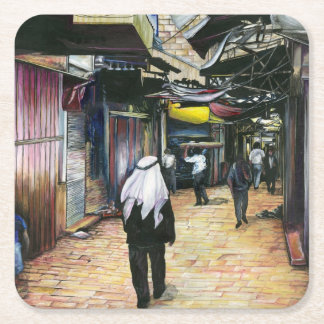 Walk Home through Antiquity, Old Jerusalem Square Paper Coaster