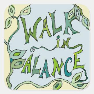 walk in balance square sticker