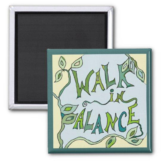 walk in balance vine magnet