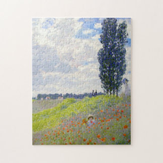 Walk in Meadows at Argenteuil Monet Fine Art Jigsaw Puzzle