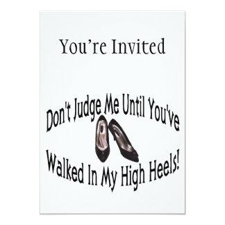Walk In My High Heels 5x7 Paper Invitation Card