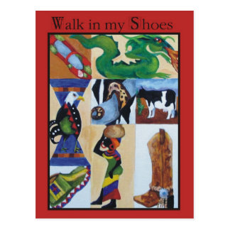 Walk in my Shoes Postcard
