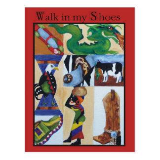 Walk in my Shoes Postcard