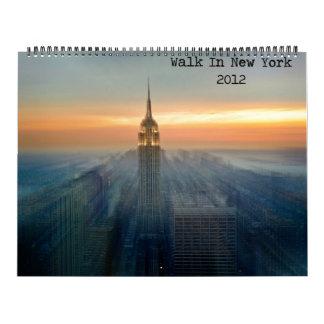 Walk In New York 2012 Calendar