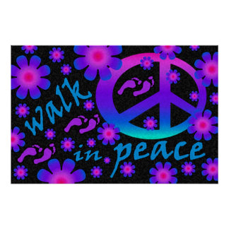 Walk in Peace Poster