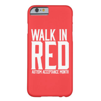 Walk in Red Autism Acceptance Month iPhone Case
