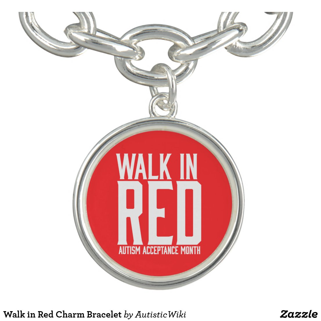 Walk in Red Charm Bracelet