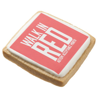Walk in Red Shortbread Cookies