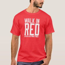 Walk in Red Tshirt
