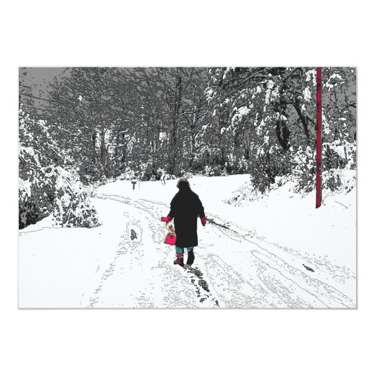 Walk In Snow Card