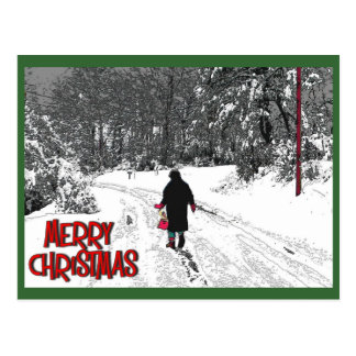Walk In Snow Christmas Card