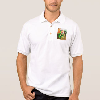 Walk in the Garden  - Bromeliad and lipstick palm Polo T-shirt